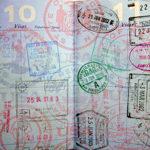 tampons sur un passeport