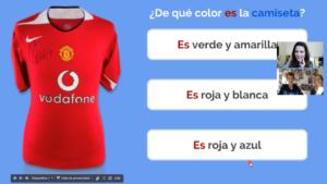 Exemple de cours sur les couleurs en espagnol