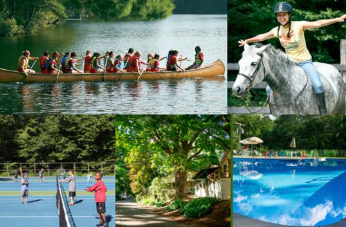 Activités variées à un summer camp aux USA