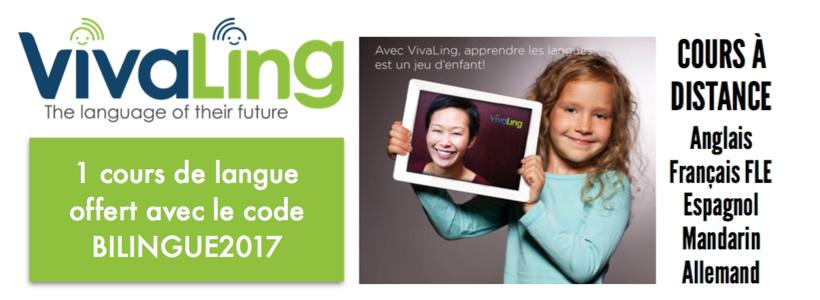 1 cours de langue offert Vivaling