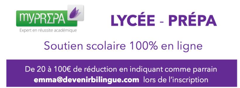 20 à 100€ de réduction sur du soutien scolaire lycée et classes prépa
