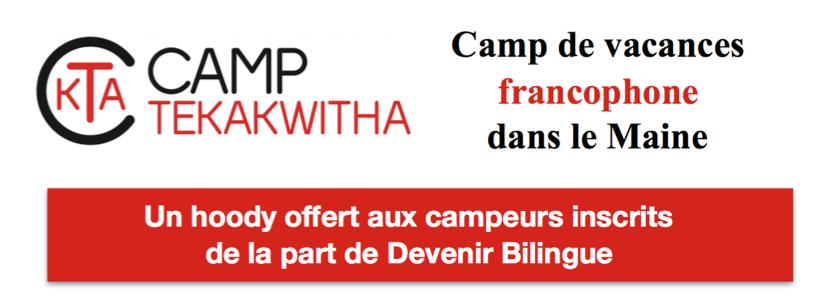 1 sweatshirt offert pour une inscription à un summer camp francophone