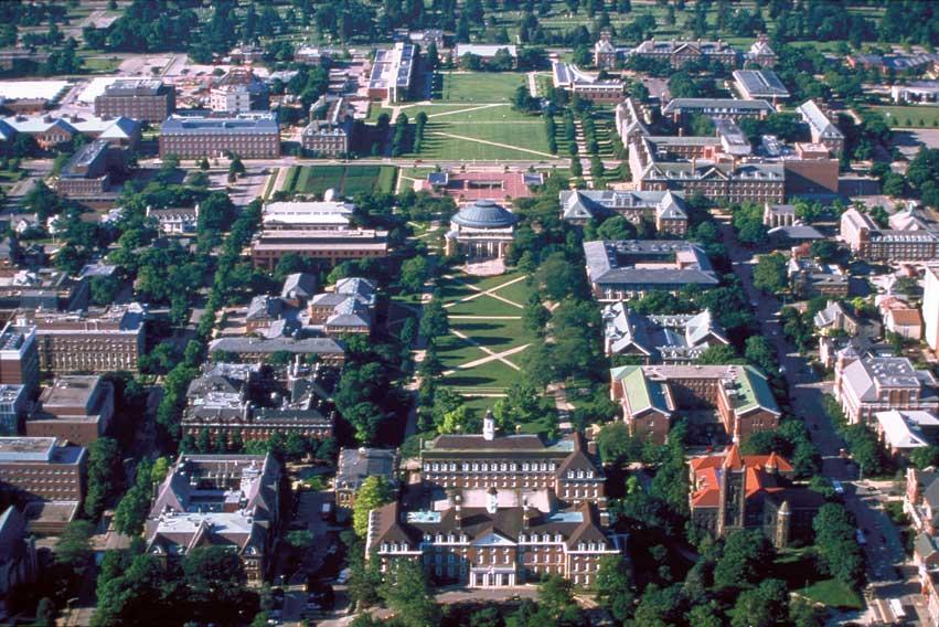 Gros campus aux Etats-Unis - Urbana Champaign