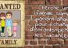 Affiche Recherche famille pour échange linguistique
