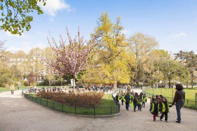 Promenade au parc Monceau avec l'EIB, école internationale bilingue