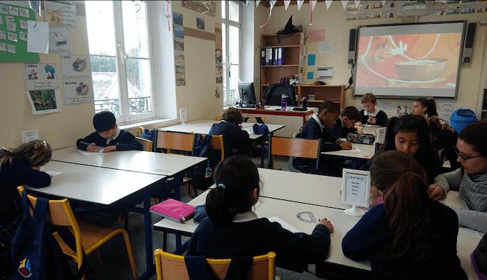 Une classe à l'école internationale Malherbe MIS