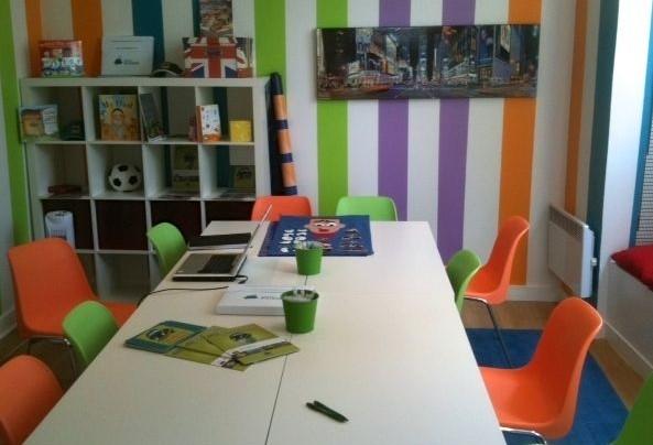 Salle junior dans un centre Les Petits Bilingues