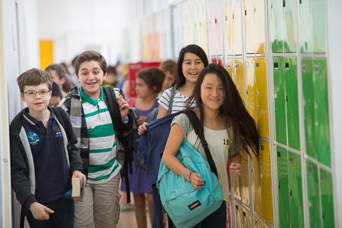 Dans les couloirs de l'Ecole Jeannine Manuel