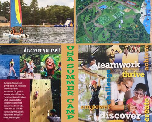 Illustrations de divers summer camps aux Etats-Unis