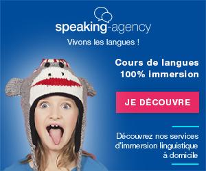 Bannière Speaking-Agency pour les cours de langues