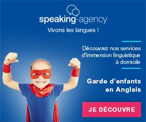 Bannière Speaking-Agency pour la garde d'enfants