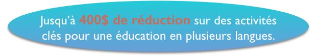 Jusqu'à 400€ de réductions pour apprendre une langue