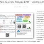 Blog La classe de Mallory Leçons de français CM2