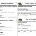 Blog La classe de Mallory Exercice grammaire