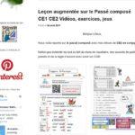 Blog Monsieur Mathieu Cours passé composé CE1 et CE2