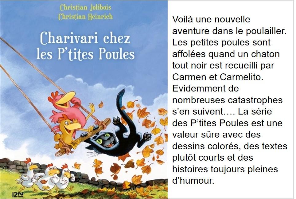 Charivari chez les p'tites poules (Christian Jolibois, illustrations Christian Heinrich):