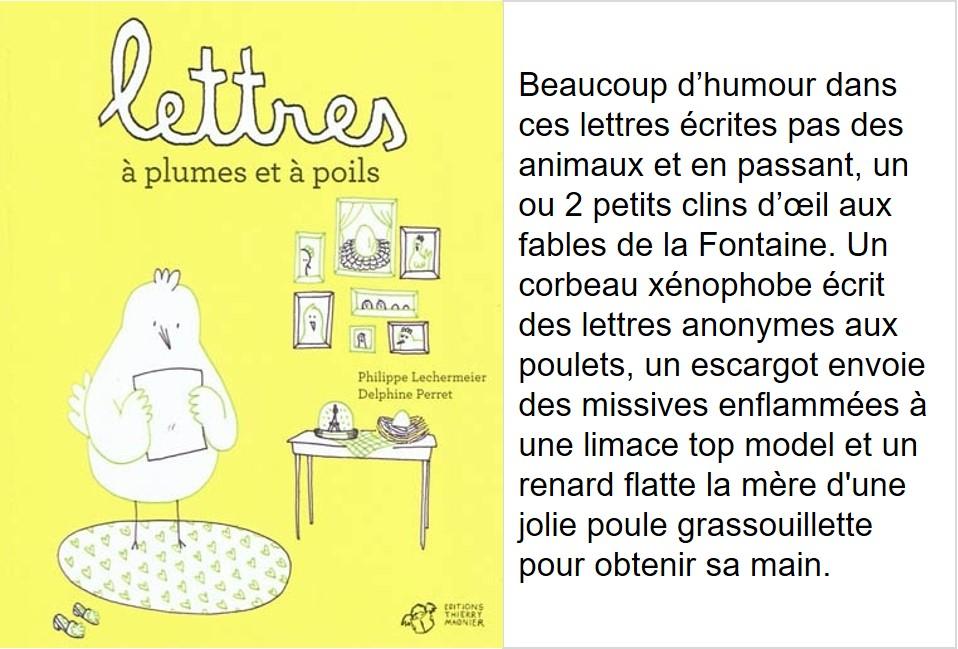 Lettres à plumes et à poils (Philippe Lechermeier, illustrations Delphine Perret)