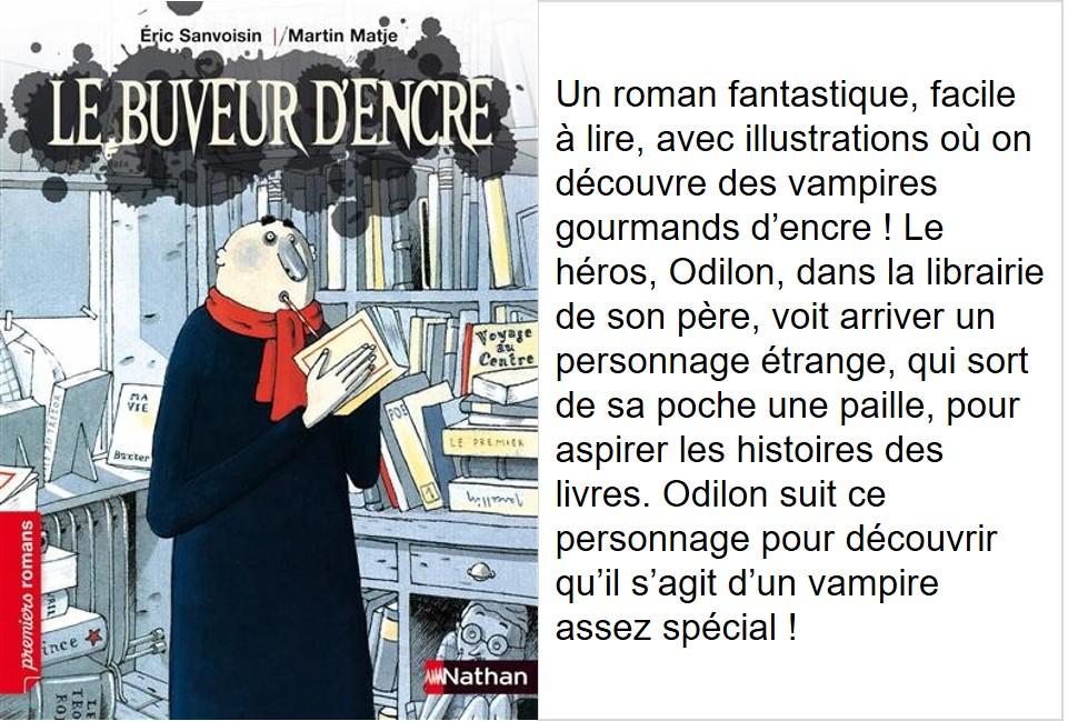 Le buveur d'encre (Éric Sanvoisin, illustrations Martin Matje)