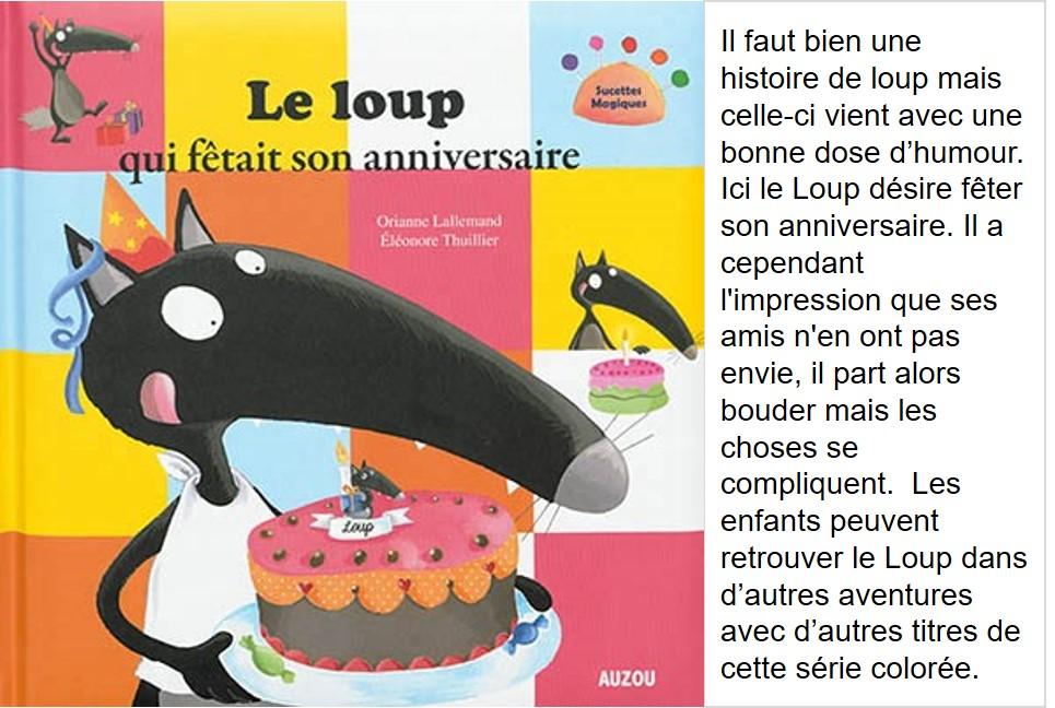 Le loup qui fêtait son anniversaire (Lallemand, Orianne & Thuillier, Eléonore)