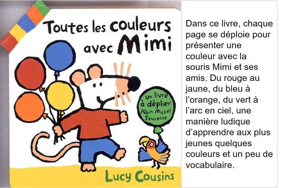Toutes les couleurs avec Mimi (Lucy Cousins)