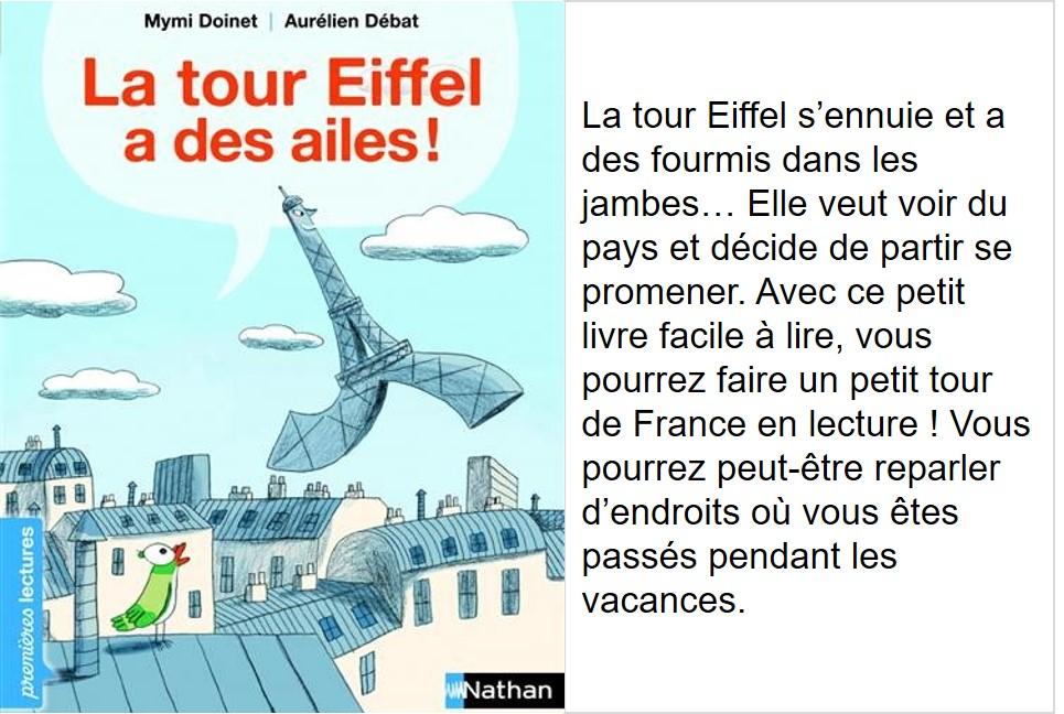 La Tour Eiffel a des ailes (Mymi Doinet, illustrations Aurélien Debat)