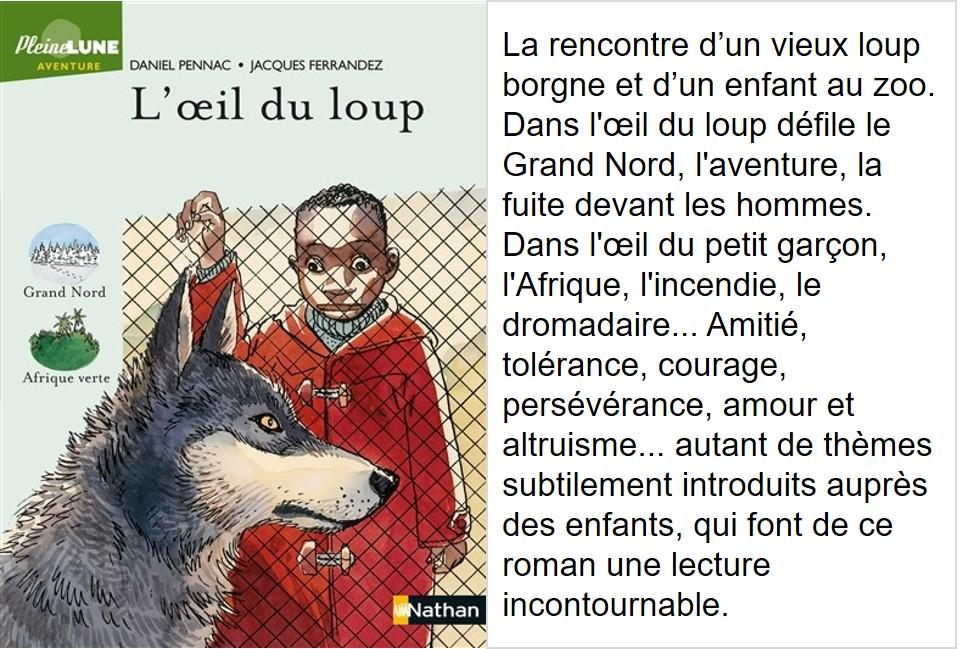 L'œil du loup (Daniel Pennac, illustrations Jacques Fernandez)