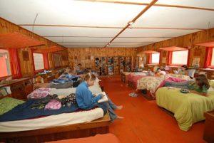 Les cabines du camp d'été francophone Tekakwitha
