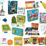 Panel de jeux de société et de livres en français