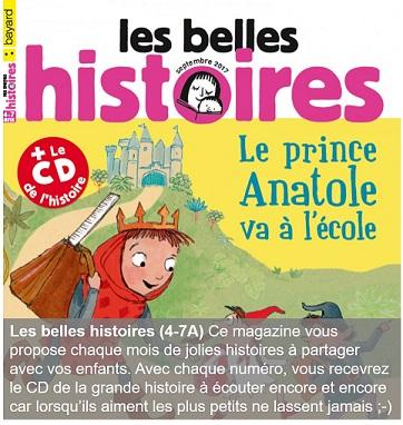 Les belles histoires, un magazine pour les 4-7 ans
