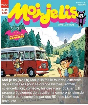 Moi je lis, un magazine pour les 8-11 ans