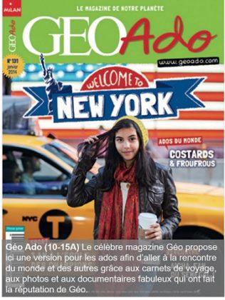 Géo Ado, un magazine pour les 10-15 ans