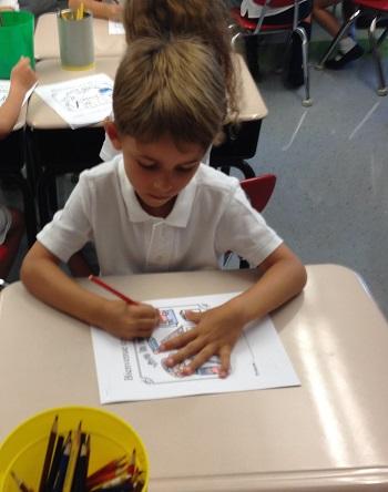 Ecolier en Kindergarten américain