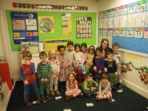 Journée pyjama à l'école américaine