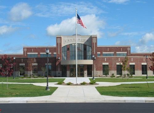 Façade d'une école américaine
