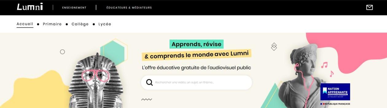 Lumni est le nouveau site de France TV Education
