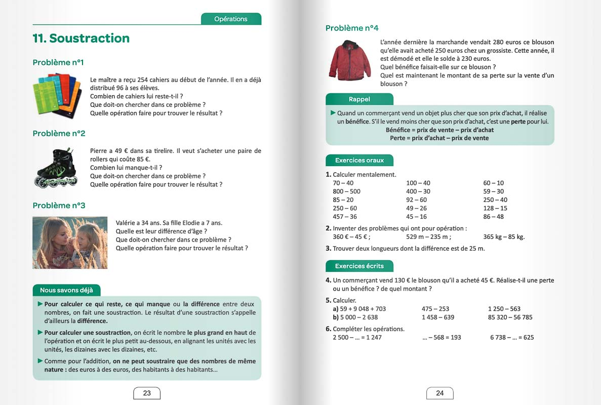 Exemple pour la scolarité à distance en mathématiques