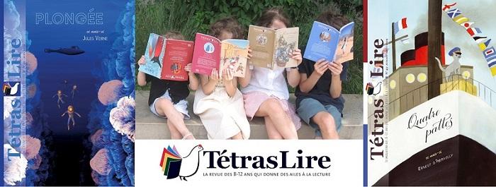 2 livres en français de TétrasLire et des enfants qui lisent
