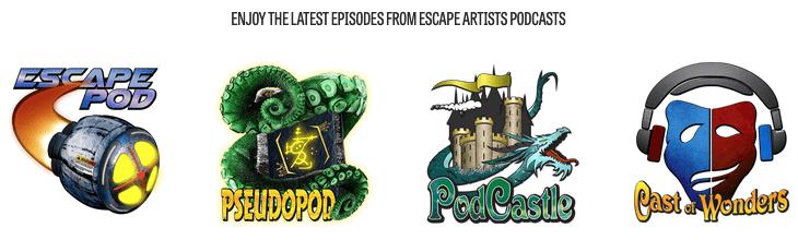 Escape Pod, PodCastle, Cast of Wonders et PseudoPod : les excellents podcasts en anglais de Escape Artists