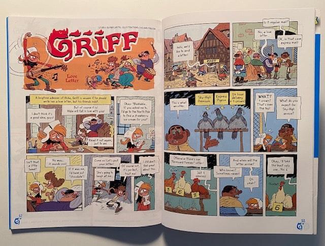 BD en anglais dans le magazine Adventure Box Max
