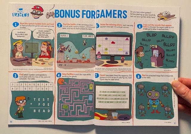 Jeux en anglais dans le magazine Adventure Box Max