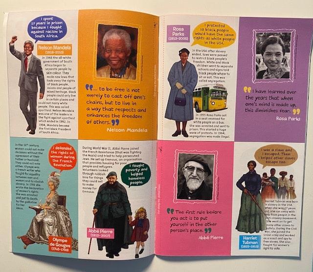 Exemple de sujets d'histoire à lire en anglais dans Discovery Box