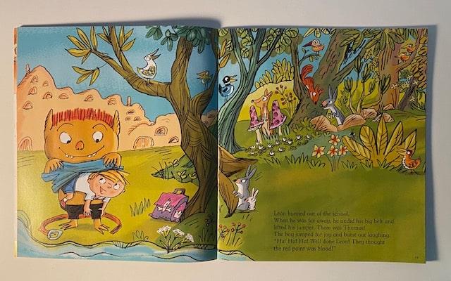 Extrait d'une histoire en anglais dans le magazine Story Box