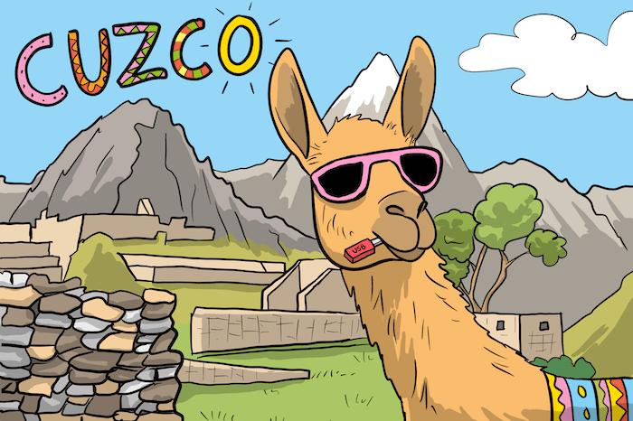 Un llama au Pérou illustre l'application pour l'espagnol Hotel Borbollon