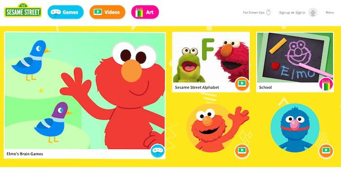 Sesame Street, un site pour apprendre l'anglais aux touts-petits