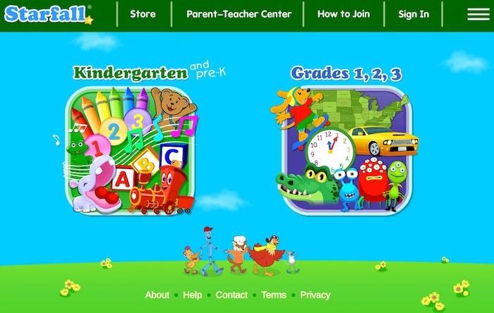 Le site éducatif Starfall apprend l'anglais aux enfants en maternelle et élémentaire