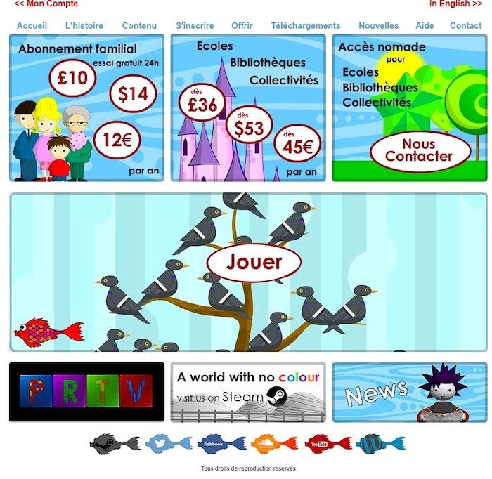 Formules d'abonnement au site Poisson Rouge pour apprendre une langue