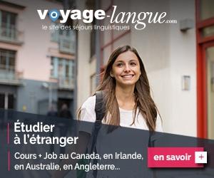 Etudier à l'étranger : Cours+Job au Canada, en Irlande, en Australie et en Angleterre avec Voyage-Langue