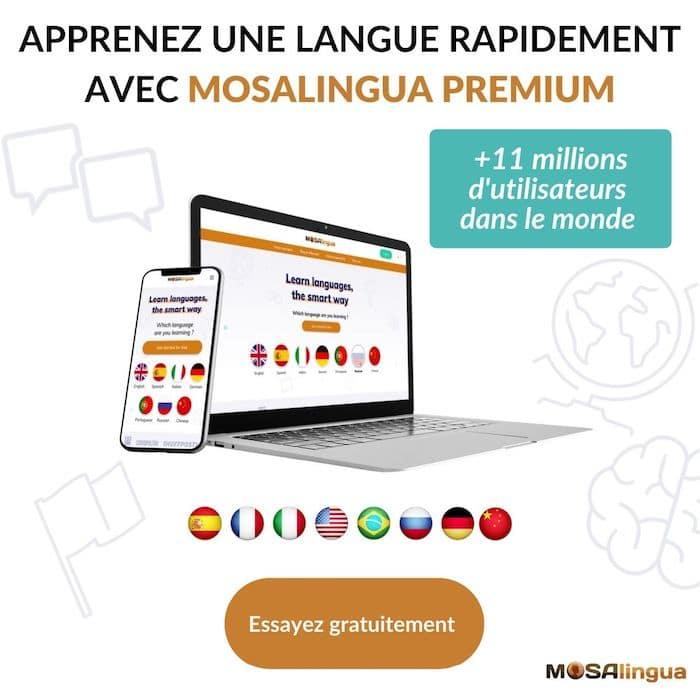Apprenez une langue rapidement avec Mosalingua Premium - Essai gratuit