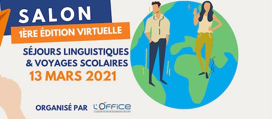 Première édition virtuelle du salon des séjours linguistiques le 13 mars 2021